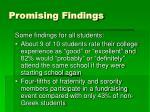 promising findings9
