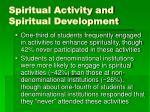 spiritual activity and spiritual development