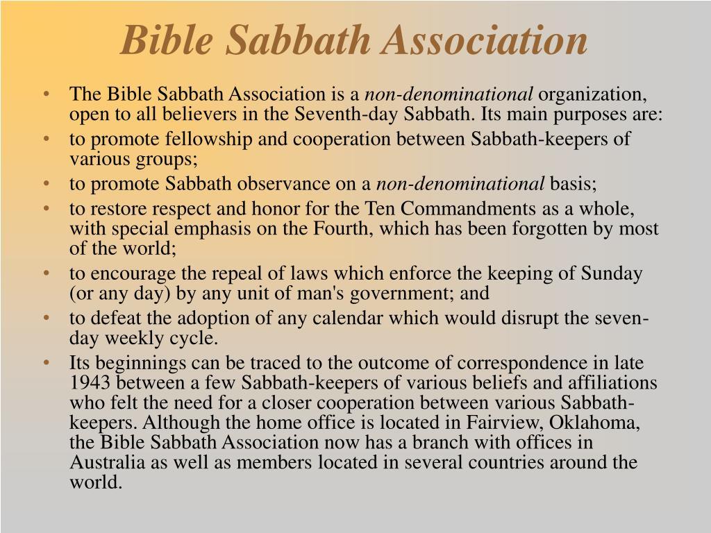 Bible Sabbath Association