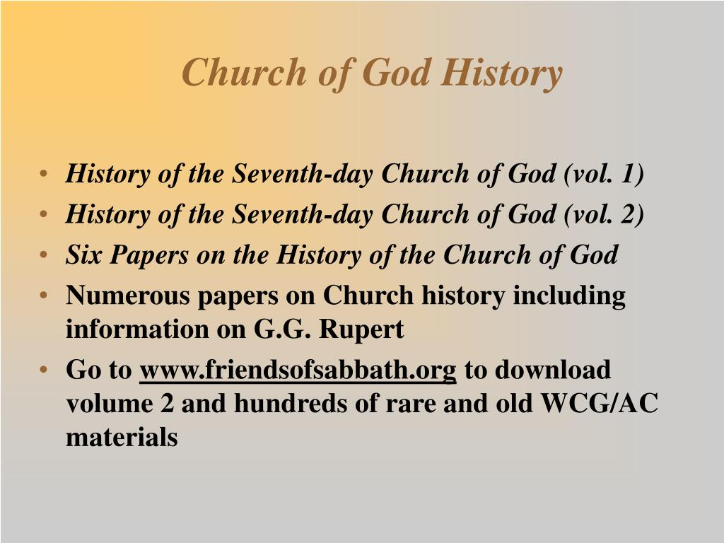 Church of God History
