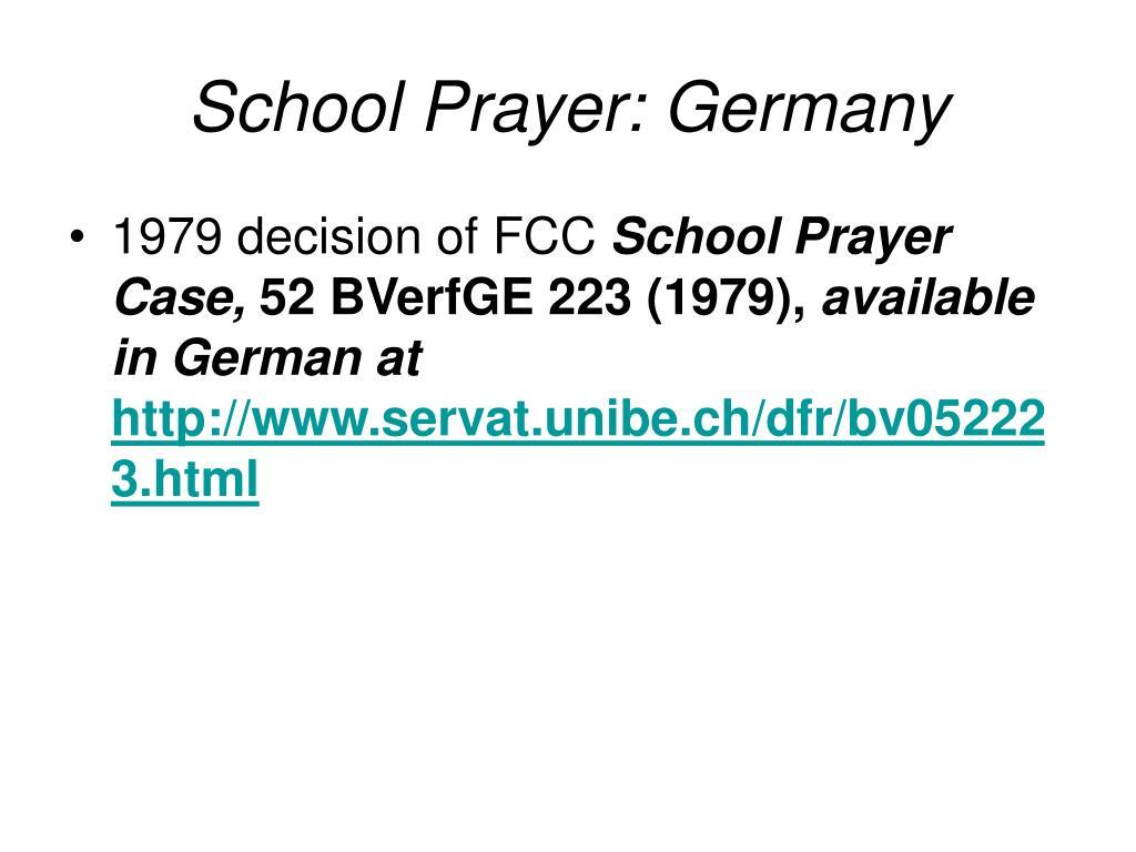 School Prayer: Germany