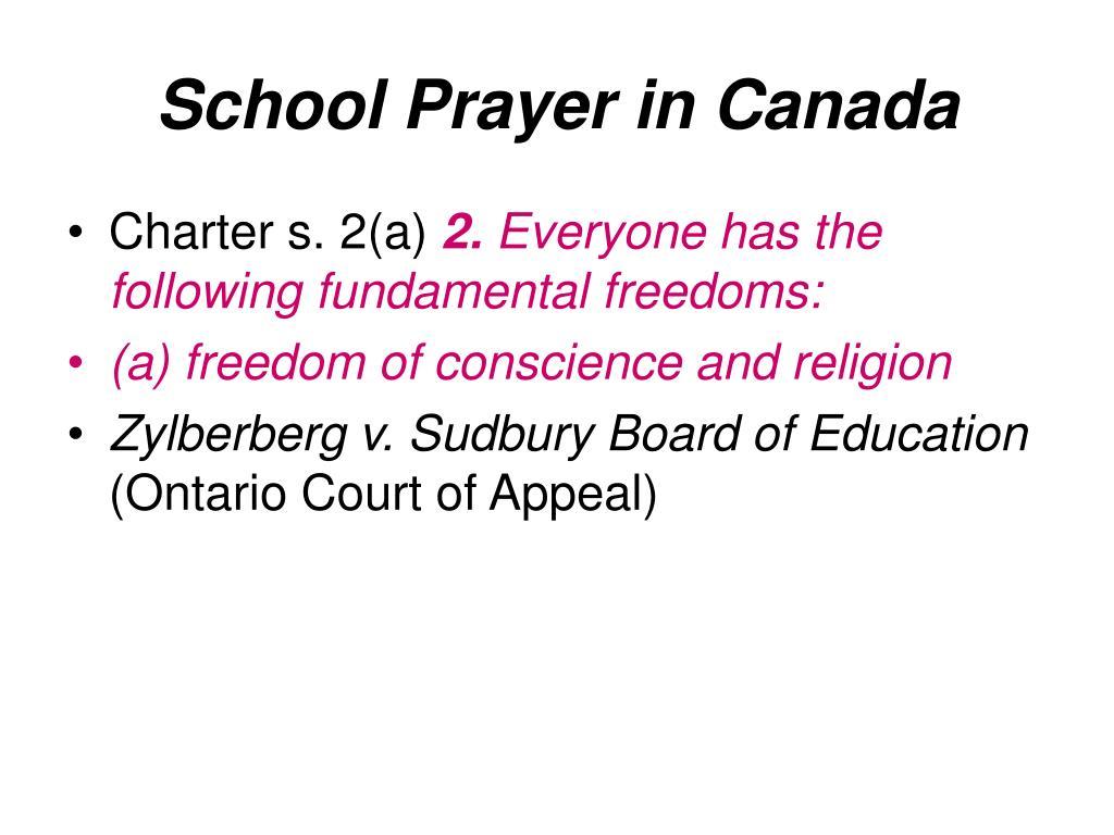 School Prayer in Canada