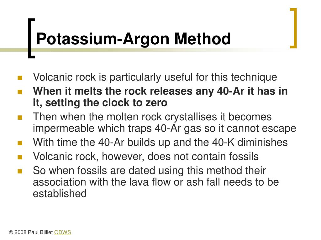 Potassium-Argon Method