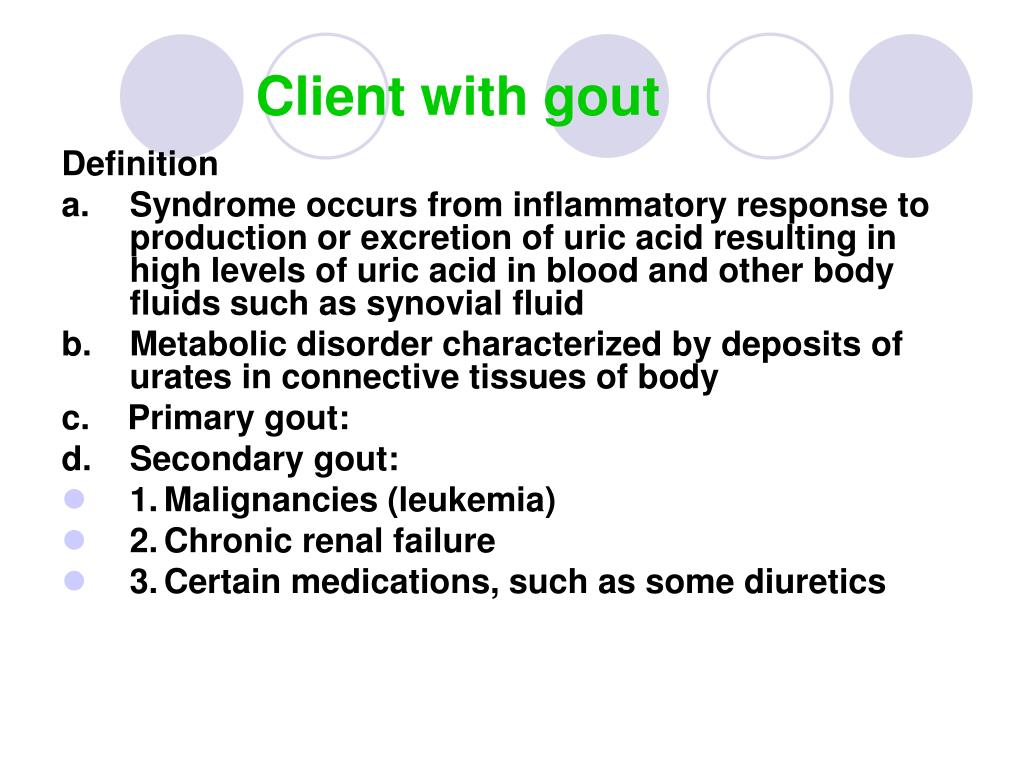 ppt - client with gout powerpoint presentation - id:248777