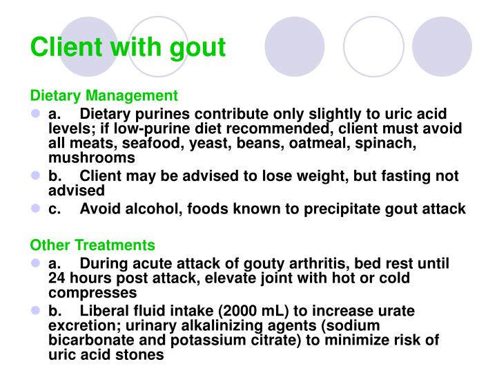 Client with gout