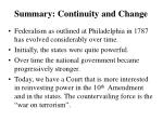 summary continuity and change