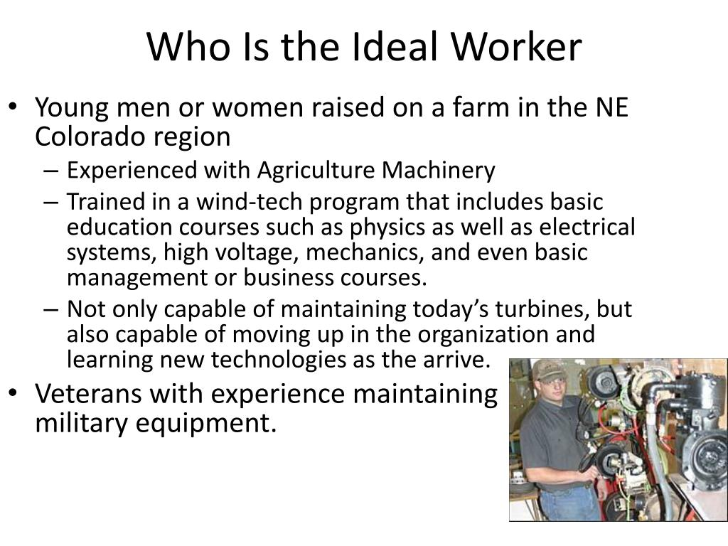 Who Is the Ideal Worker