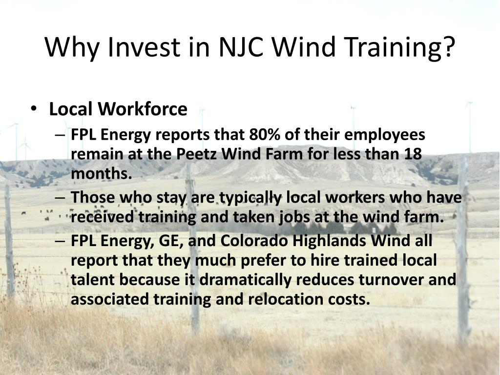 Why Invest in NJC Wind Training?