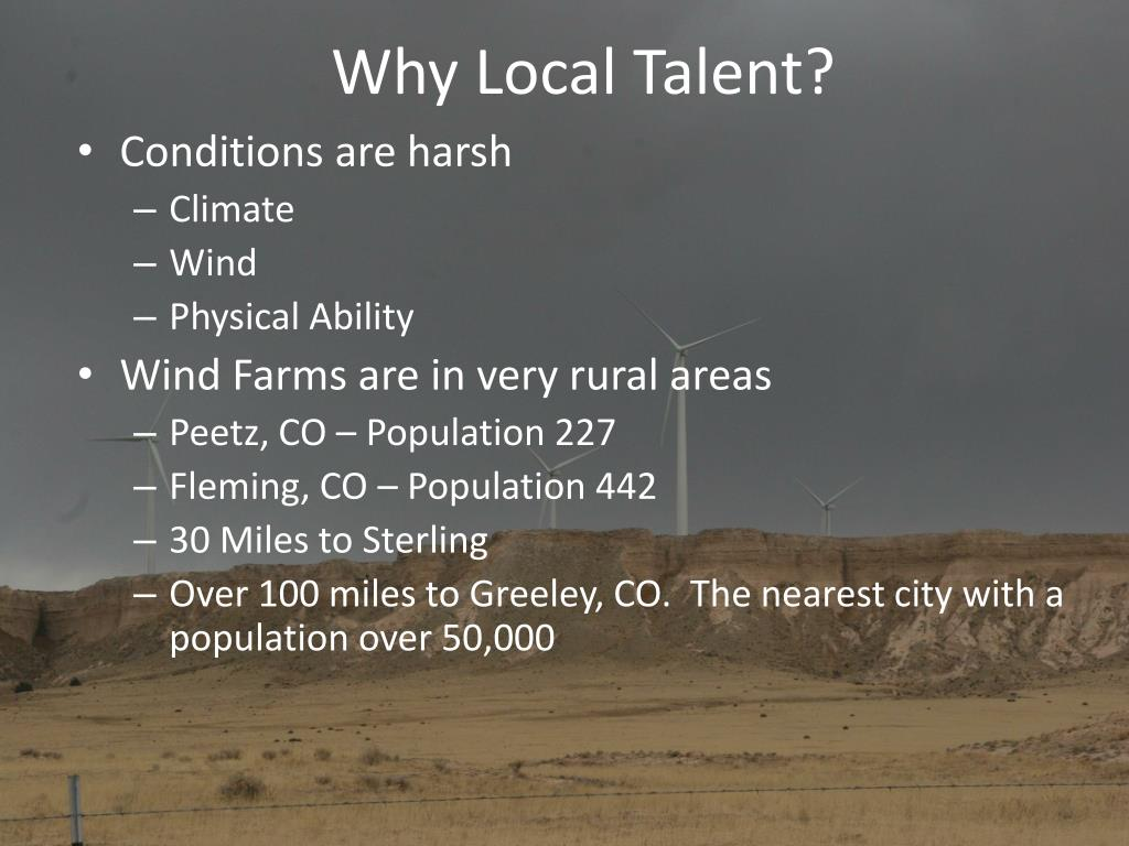 Why Local Talent?