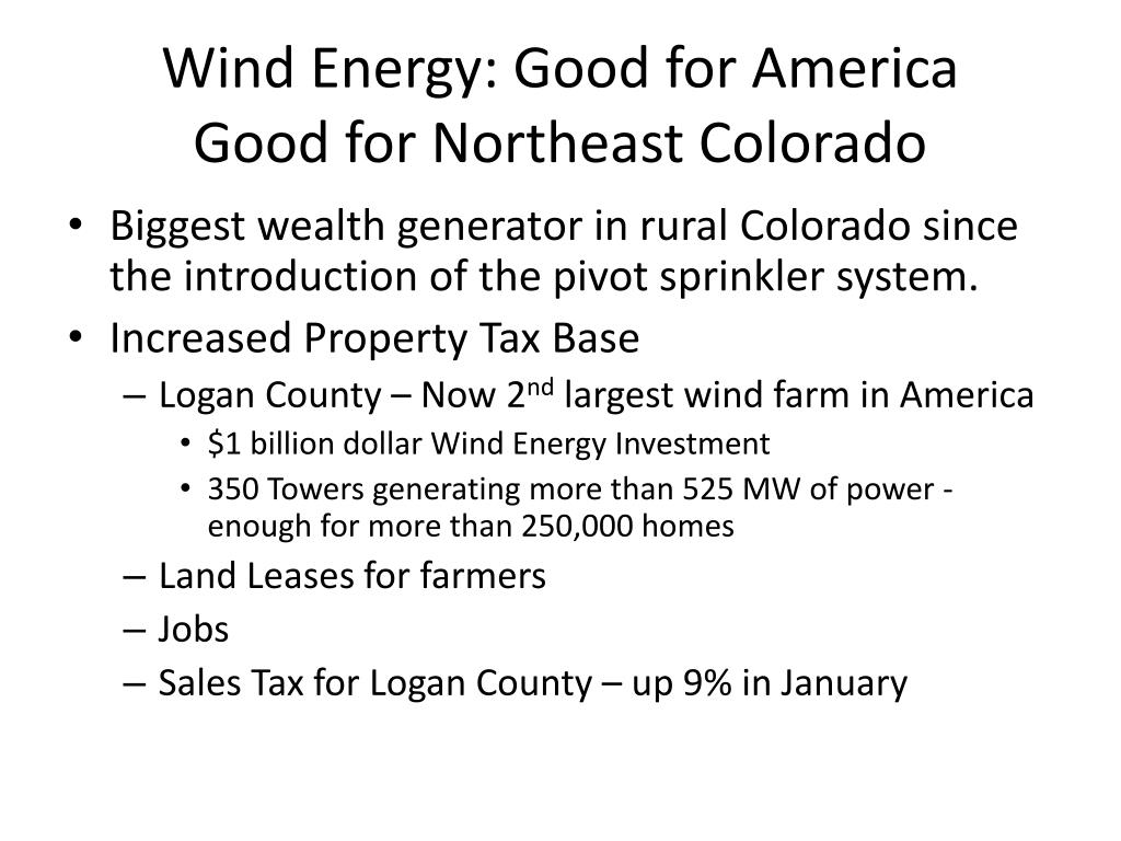 Wind Energy: Good for America