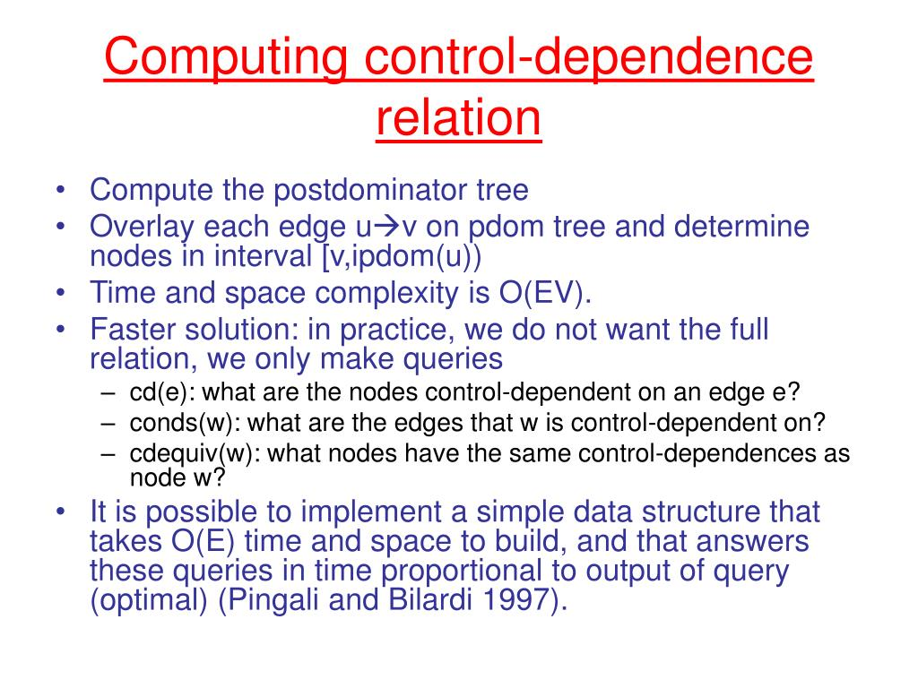 Computing control-dependence relation