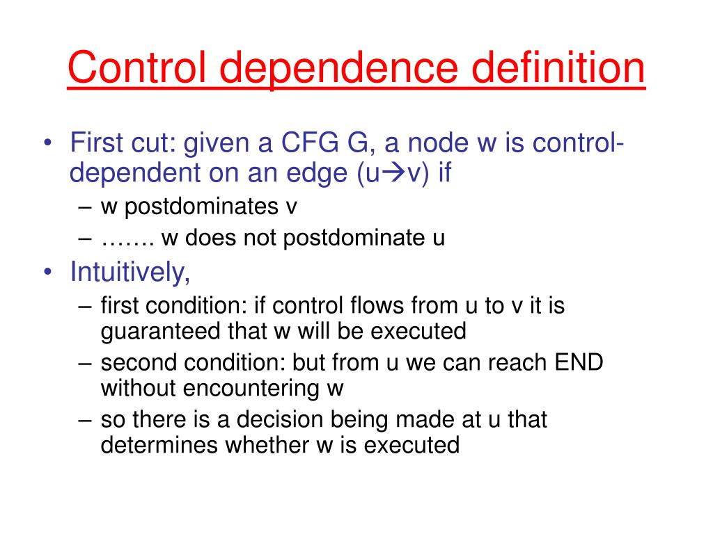 Control dependence definition