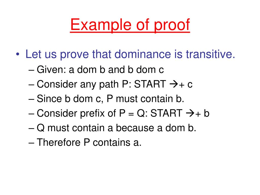 Example of proof