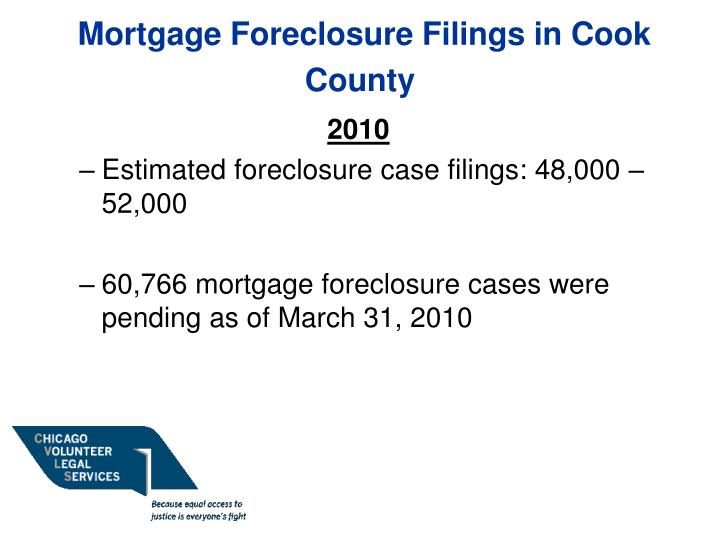 Mortgage foreclosure filings in cook county1