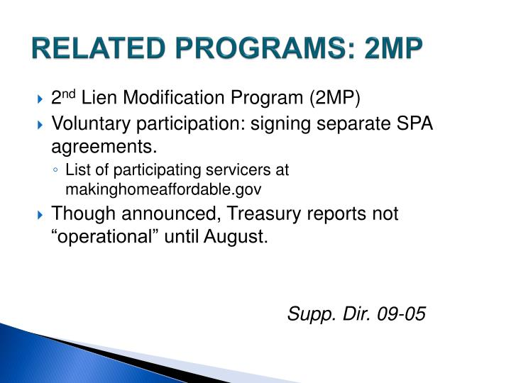 RELATED PROGRAMS: 2MP