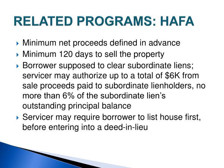 RELATED PROGRAMS: HAFA