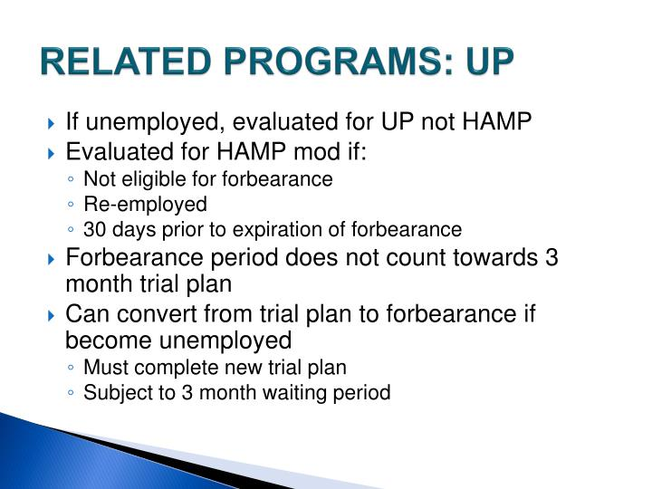 RELATED PROGRAMS: UP