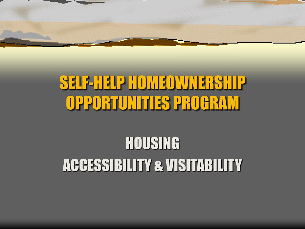 self help homeownership opportunities program