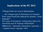 implications of the pc 201219