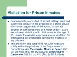 visitation for prison inmates