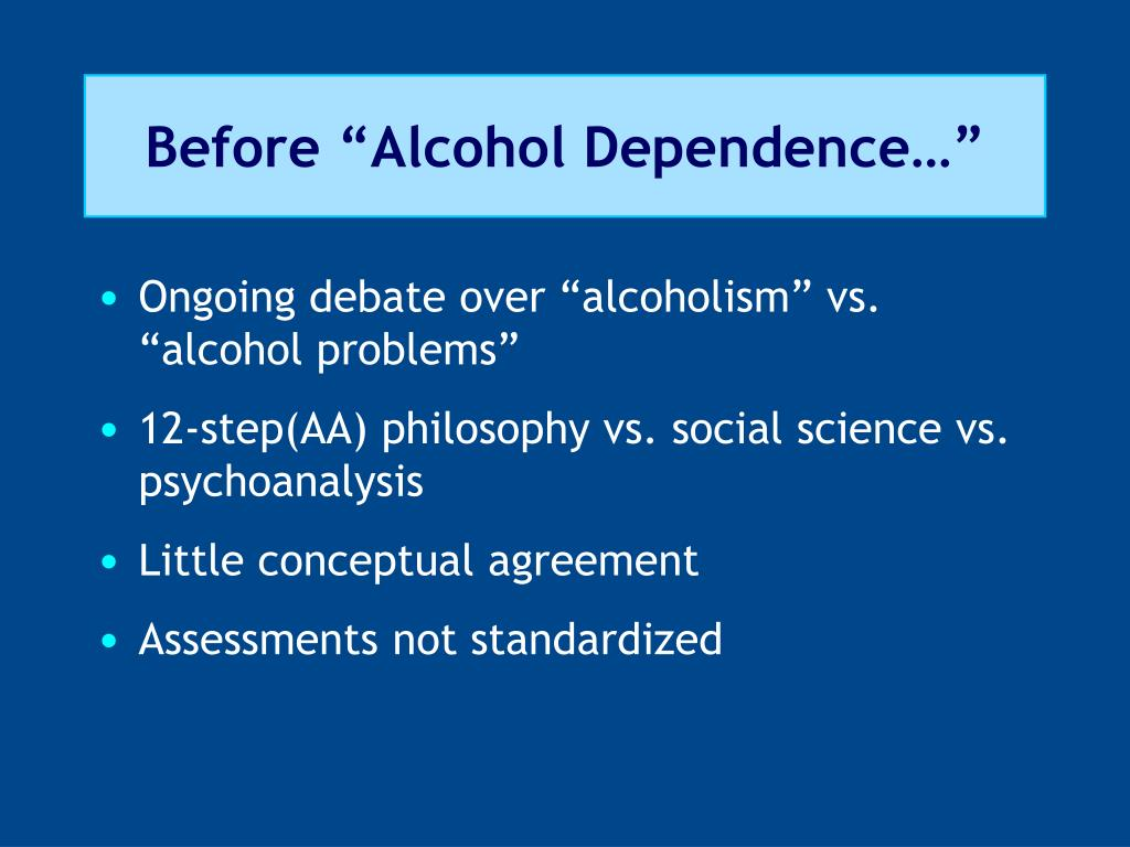 """Before """"Alcohol Dependence…"""""""