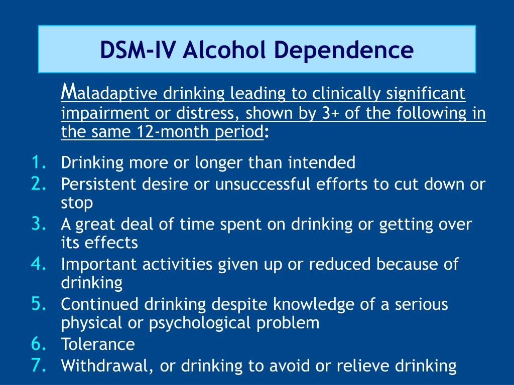 DSM-IV Alcohol Dependence