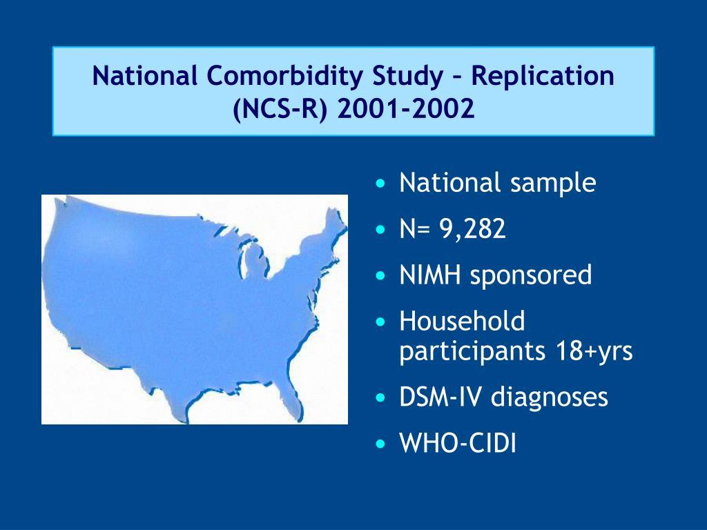 National Comorbidity Study – Replication