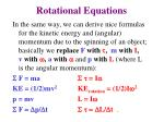 rotational equations