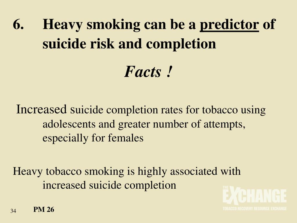 6.	Heavy smoking can be a