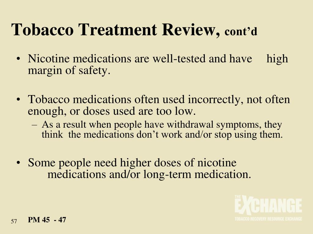 Tobacco Treatment Review,