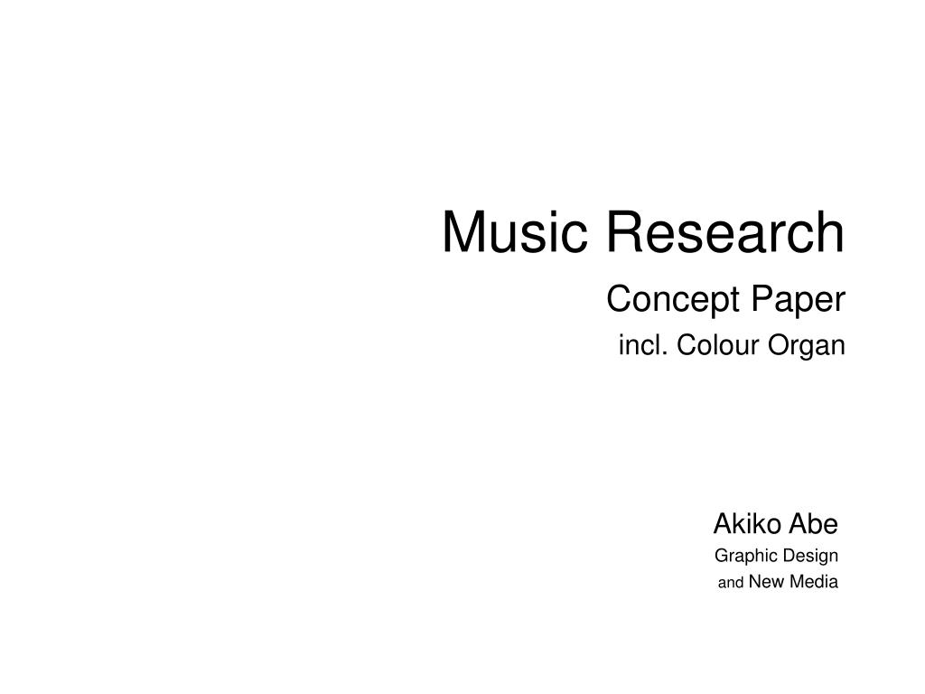 music research concept paper incl colour organ l.