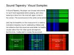 sound tapestry visual samples