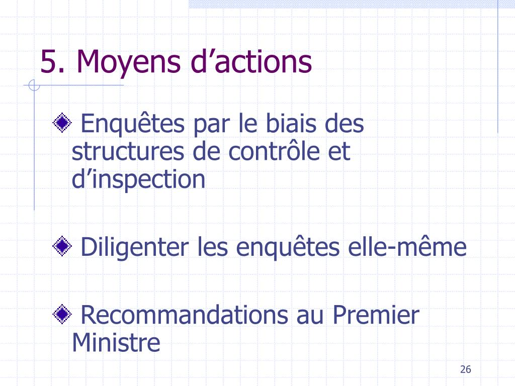 5. Moyens d'actions