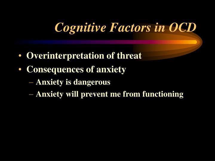 Cognitive Factors in OCD