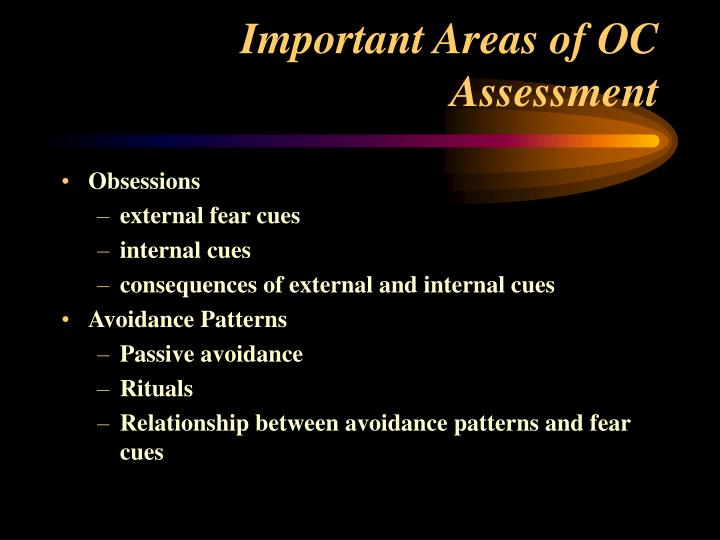 Important Areas of OC Assessment