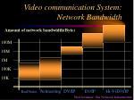 video communication system network bandwidth