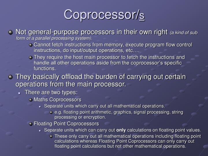 Coprocessor/
