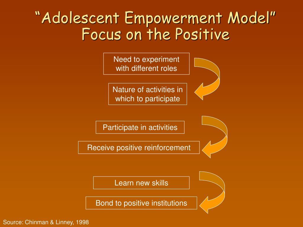 """Adolescent Empowerment Model"" Focus on the Positive"