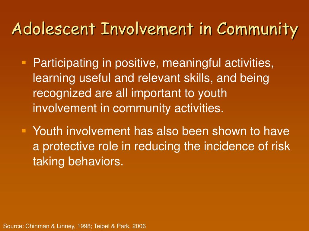 Adolescent Involvement in Community