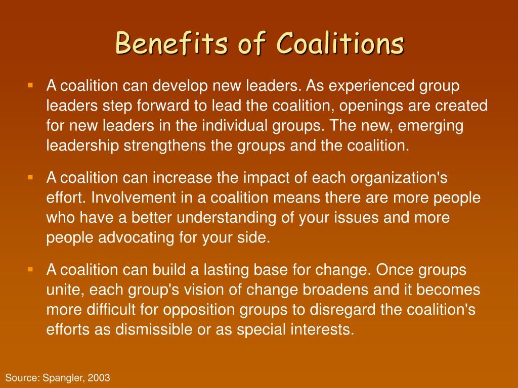 Benefits of Coalitions