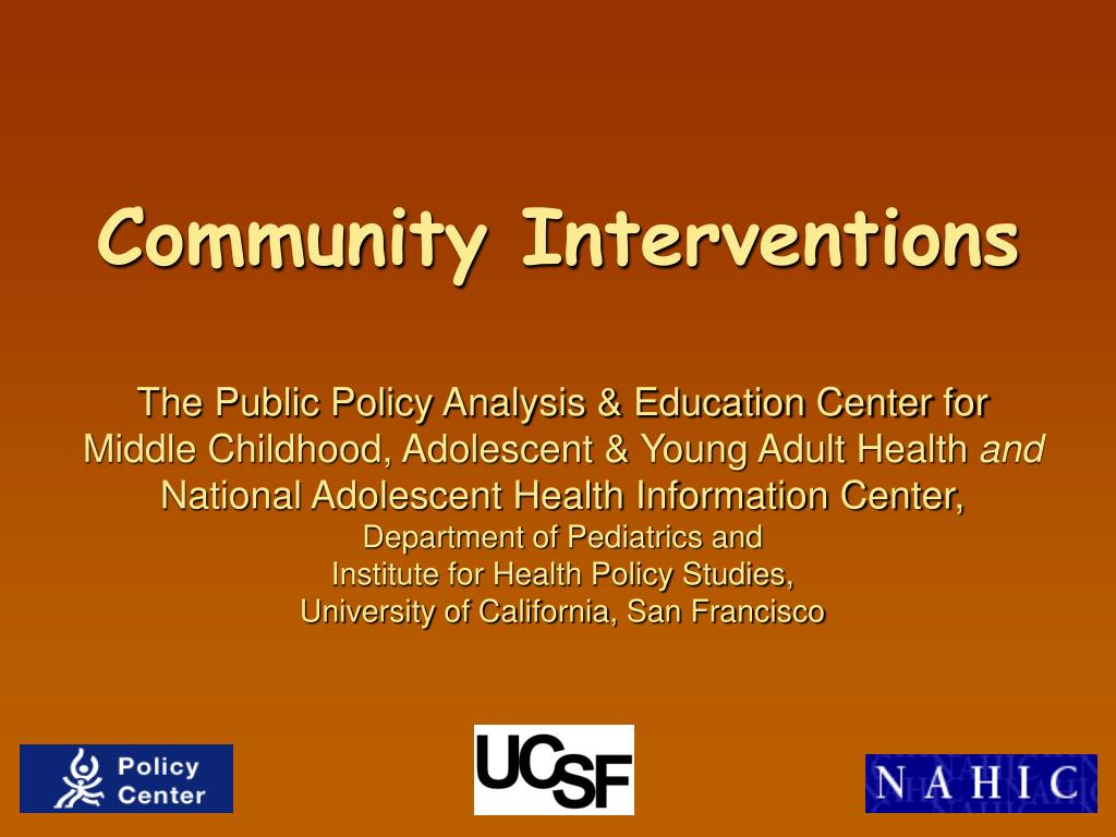 community interventions l.