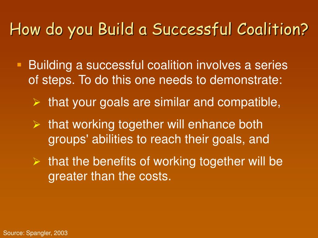 How do you Build a Successful Coalition?