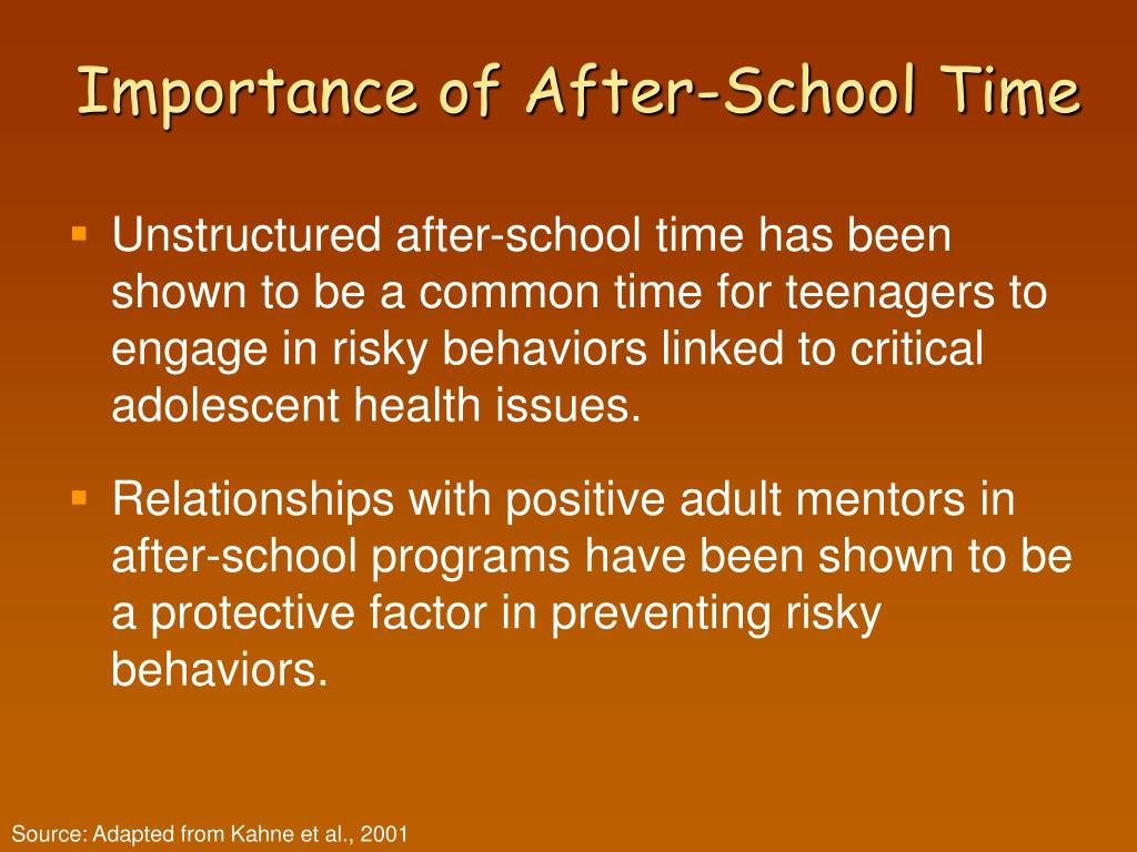 Importance of After-School Time