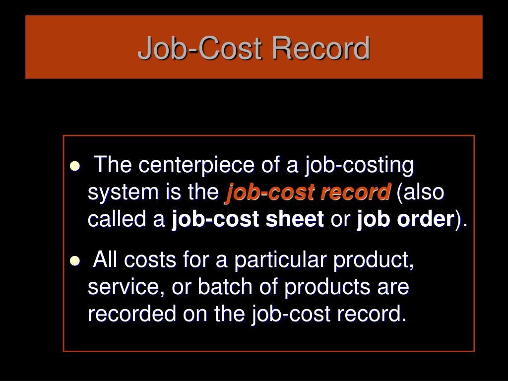 Job-Cost Record