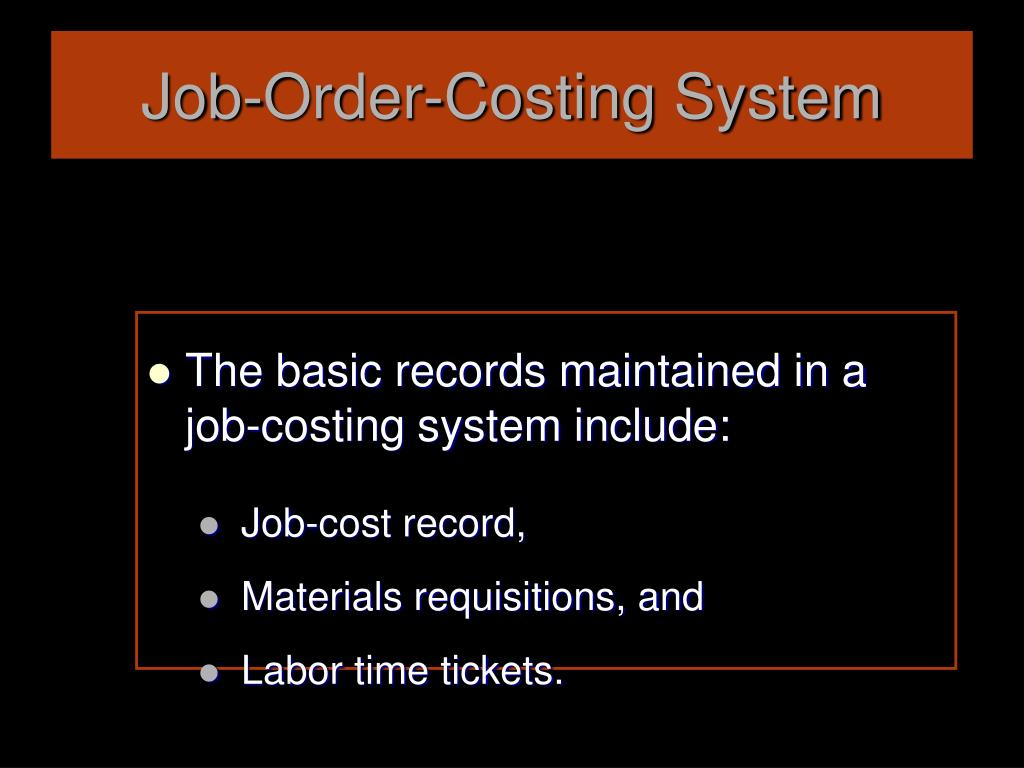Job-Order-Costing System