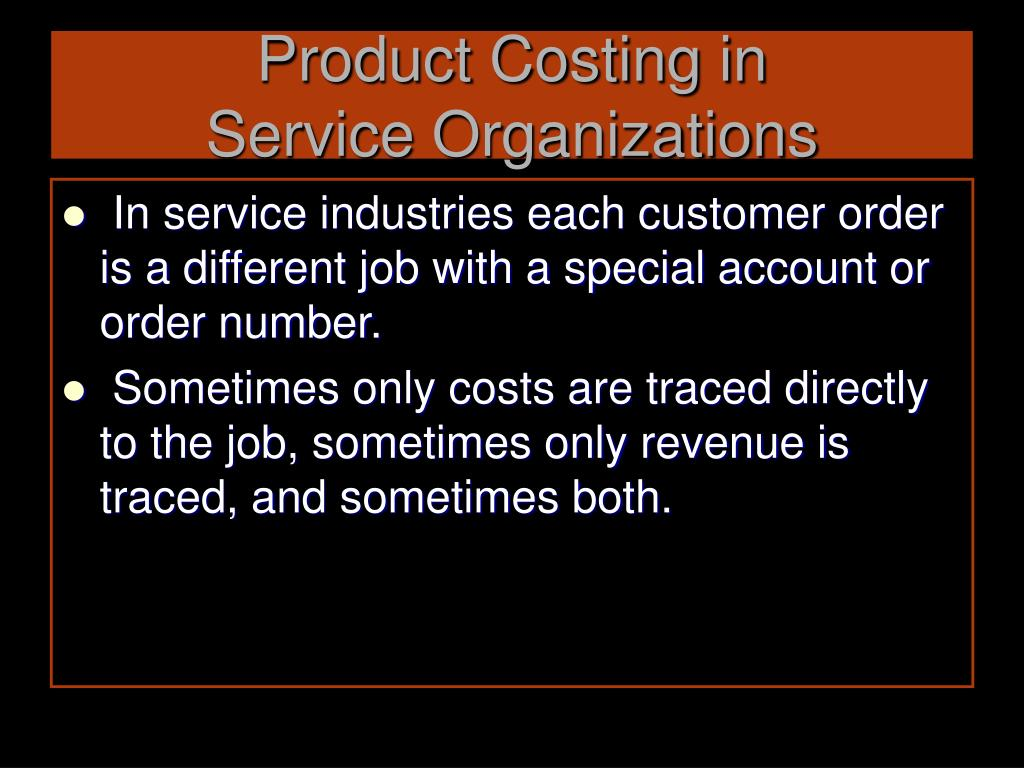 Product Costing in