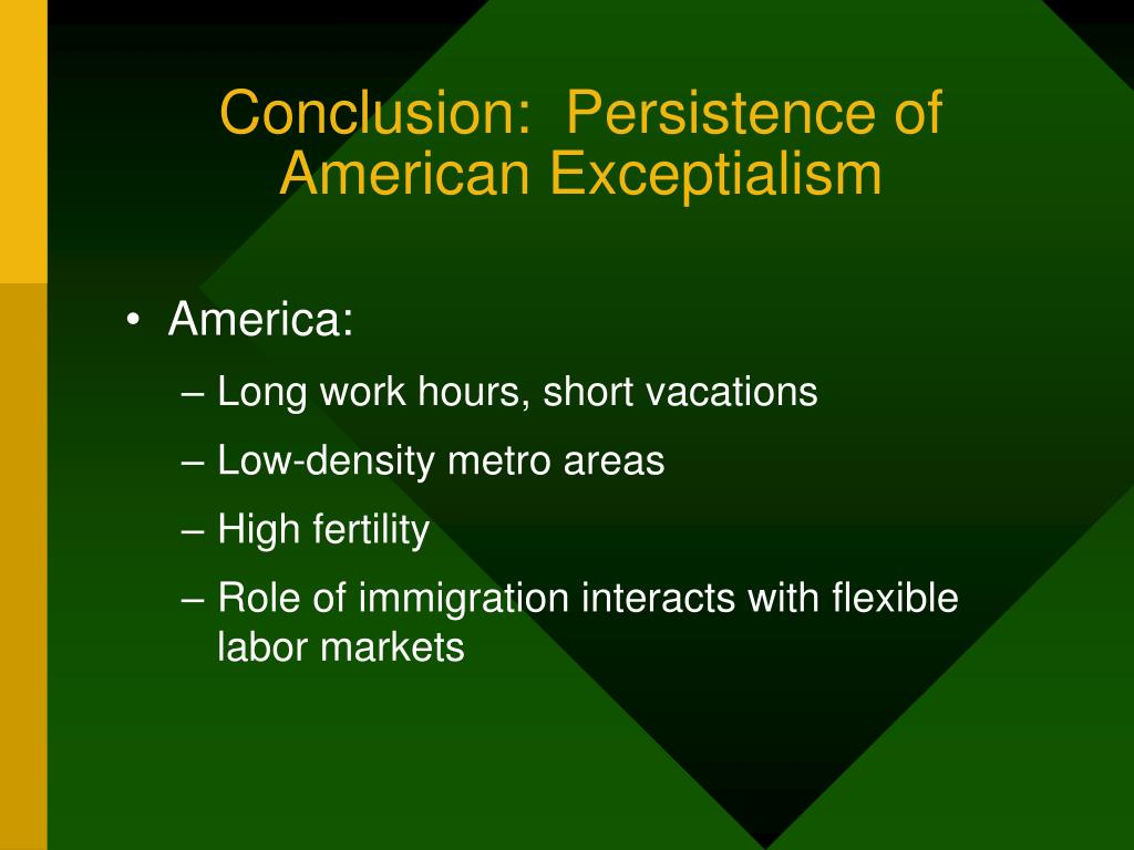Conclusion:  Persistence of American Exceptialism