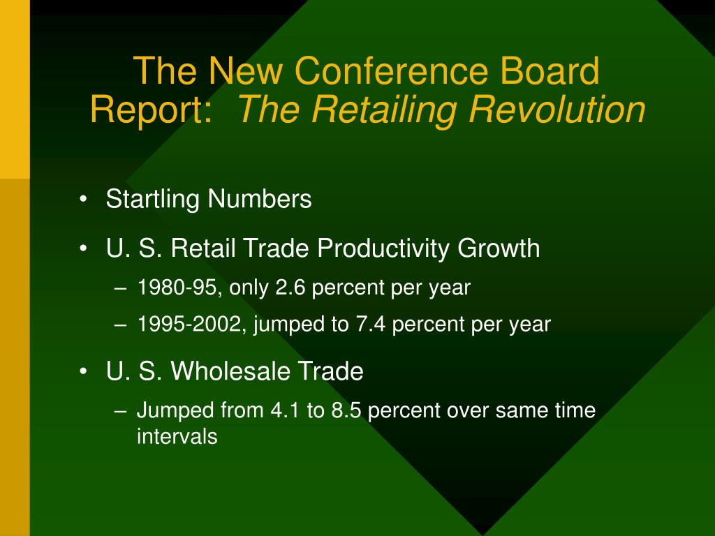 The New Conference Board Report: