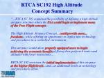 rtca sc192 high altitude concept summary