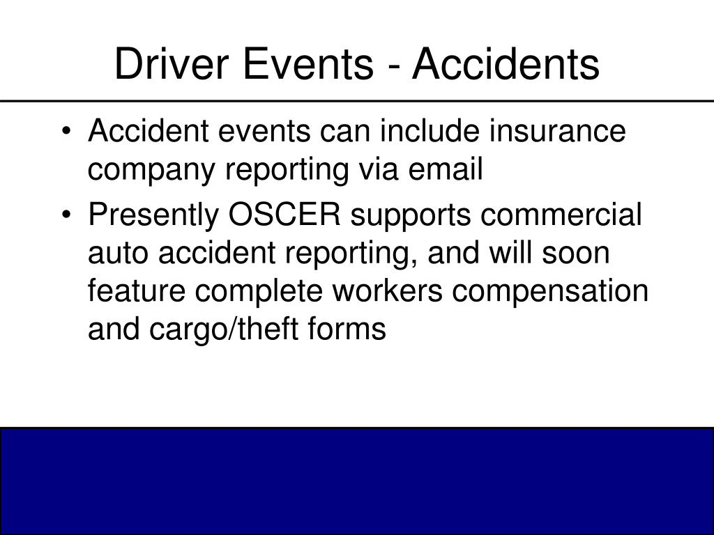 Driver Events - Accidents